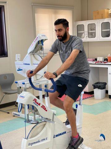  لاعبي المنتخب السعودي الأول لكرة الطاولة يجرون بعض الفحوصات والاختبارات الطبية بجامعة الملك سعود