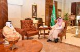 سمو الأمير مشعل بن ماجد يستقبل رئيس غرفة جدة