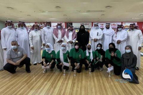 نادي جدة للصم بطل بطولة المملكة للبولينج للرجال والسيدات