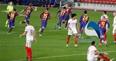 برشلونة يتأهل لنهائي كأس إسبانيا بفوزه على إشبيلية