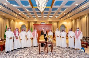 سمو أمير الجوف يستقبل رئيس وأعضاء إدارة نادي طبرجل الرياضي