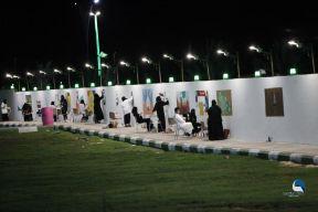 """""""بلدية القريات"""" تنتهى من جدارية وطنية بطول 150 متر ومشاركة 47 فنان وفنانة"""